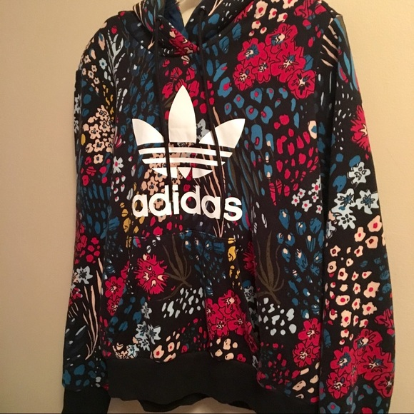 2cc73b02e812 adidas Tops - Adidas Trefoil hooded jacket (M) multi colored